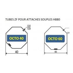 Tubes attache souples volet roulant H880B