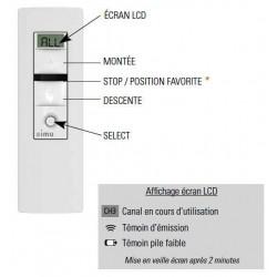 Télécommande SIMU-HZ  BLANCHE 5 CANAUX