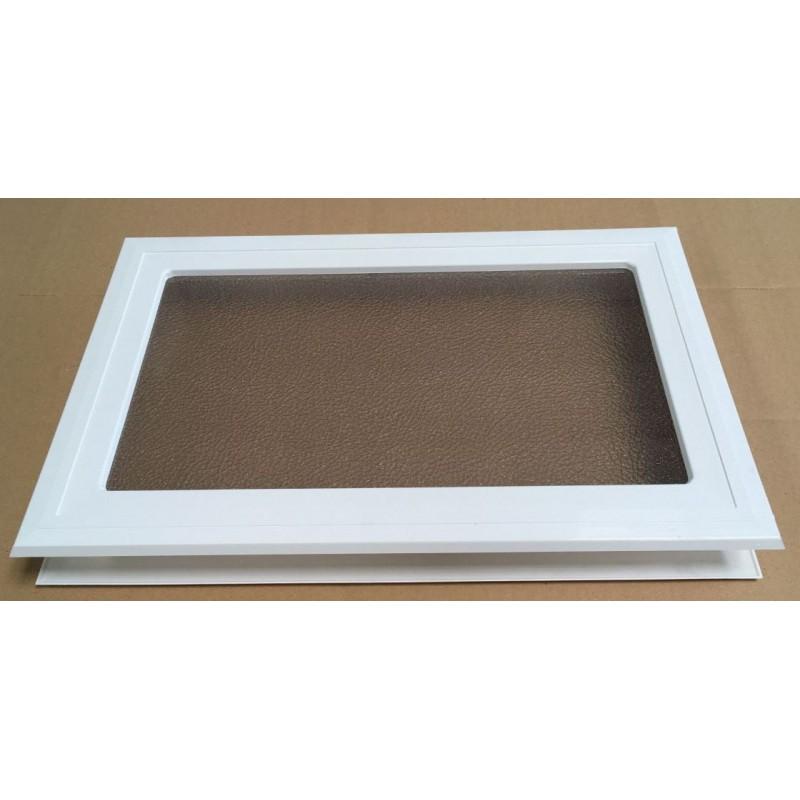 Hublot rectangulaire Blanc avec verre sécurité -Hors tout 370 x 235 mm