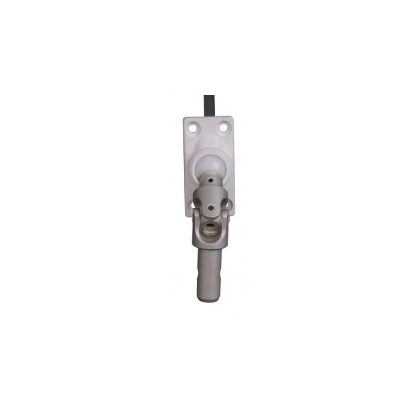 Sortie de caisson à 45° Blanche -D13-Carré de 6 mm