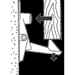 Arrêt criquet Automatique Noir pour espagnolette