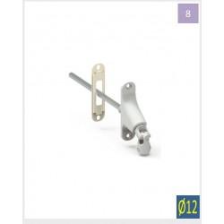 Double cardan Blanche Horizontale -D12-CARRE 8 mm