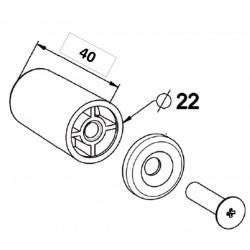 Paire de Butées de volet roulant blanche de 40 mm