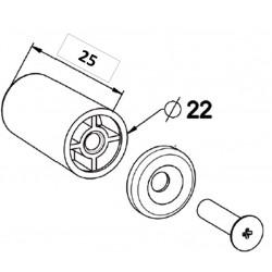 Paire de Butées de volet roulant blanche de 25 mm