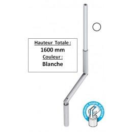 Manivelle de volet roulant Blanche D13 Longueur totale 1,6 m