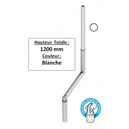 Manivelle de volet roulant Blanche D13 Longueur totale 1,2 m