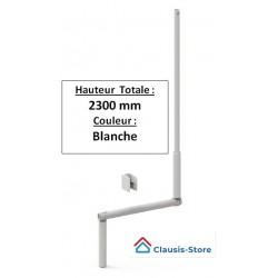 Manivelle de volet roulant Blanche D12 Longueur totale 2,30 m